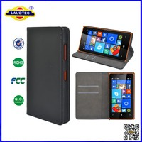 China Wholesale Alibaba Invisible Magnetic Stand Leather Flip Case for Microsoft Lumia 435