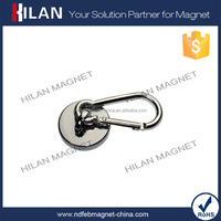 Super Strong Swivel Ferrite Permanent Magnetic Carabiner/Curtain Hook