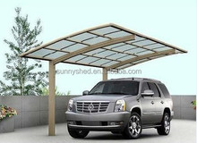 DIY sunshine and rain cover made of modern aluminum carport for all weather