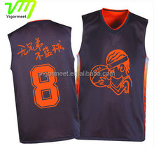 Digital print sublimation reversible basketball jersey sleeveless shirts