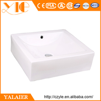 Public Bathroom Ceramic Square Lab Sink