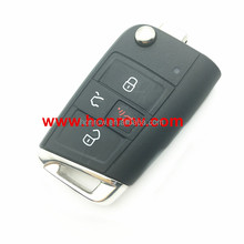 Original VW Golf MK7 3+1 button remote control key with 315MHZ and ID48 chip FCCID is 5GO 959 753 BE