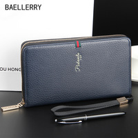 High capacity pu wallet case for men