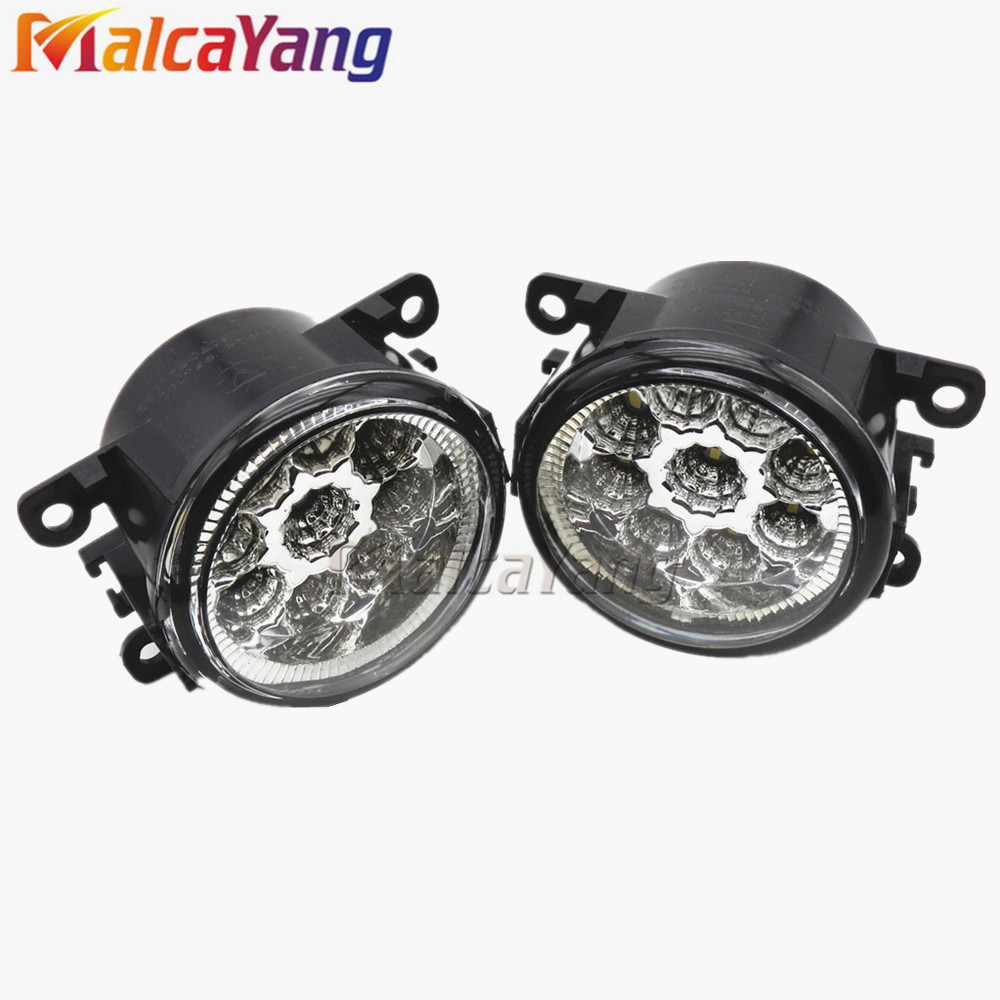For Renault LOGAN Saloon LS 2004-2015 Car styling CCC E2 6000K LED Fog <strong>Lamps</strong> DRL Lights 1set