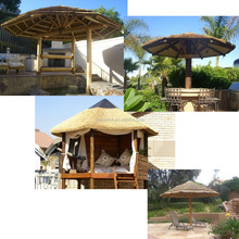 Eco-friendly Synthetic Thatched Chinese Wood Gazebo Roof Tile