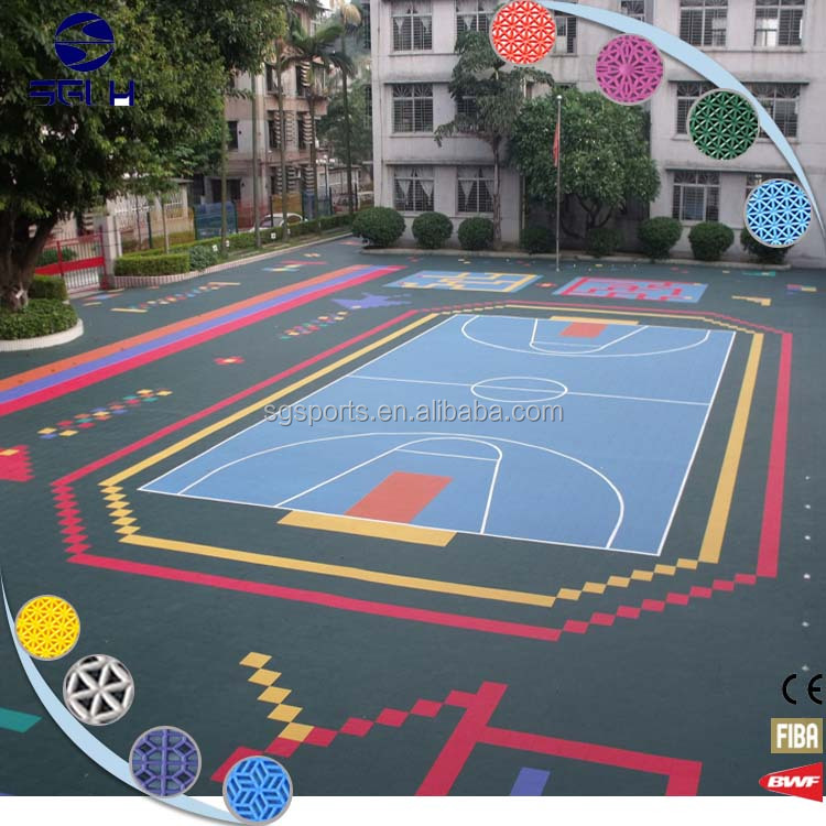 Indoor Portable floor interlocking plastic floor tiles Rubber Sports Covering Flooring