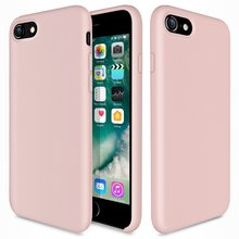 WinTop Pink Liquid Silicone Gel Rubber Slim Fit Soft Mobile Phone Case for Apple iPhone 8