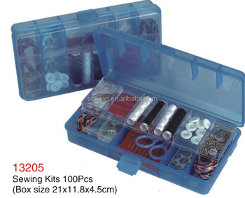 D&D Economical Sewing Kit 100pcs Eco-Friendly Plastic Sewing Kit Box