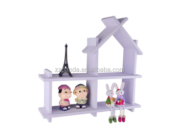 White color Baby Furniture Type wall storage shelve