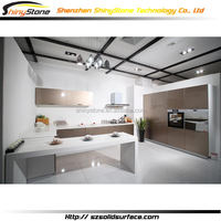 Masterpiece modern office modified solid surface maple wooden kitchen cabinet online