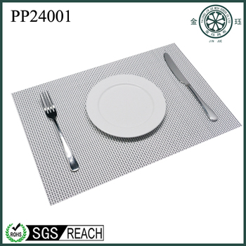 Colored PP vinyl paper doily placemats