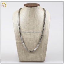 N0035S Alibaba factory's stainless steel silver chain and link necklace