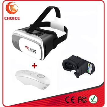 2017 Popular Low Price Hot-selling VR Product 3D VR Glasses VR BOX 2.0 Headset With Bluetooth Remote For Smart Phone