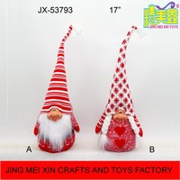 Hot 17'' woolen long hat Xmas Santa/Mrs Claus indoor decor