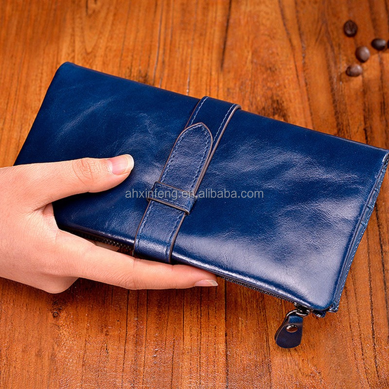 New arrival fancy custom functional leather purse women