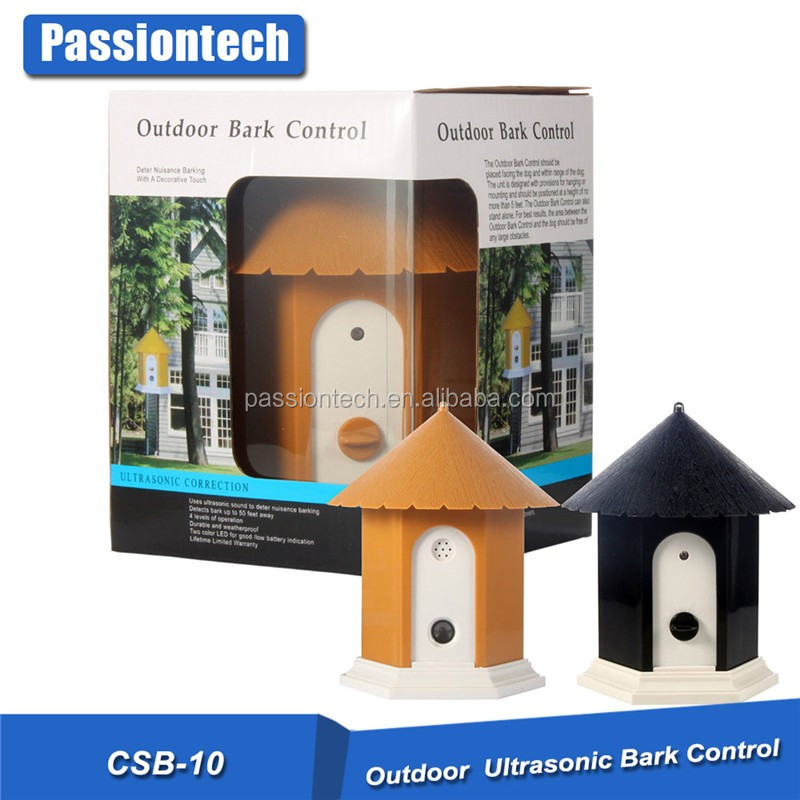 Outdoor Ultrasonic Bark Control for dogs with birdhouse theme