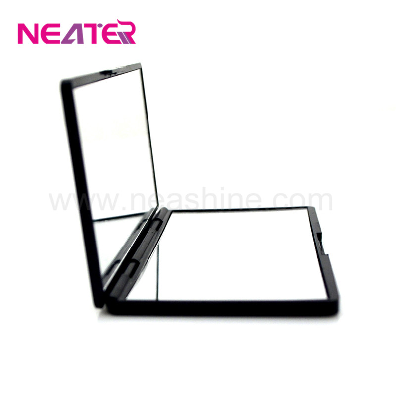 Best selling magnifying women makeup hand black square compact mirror