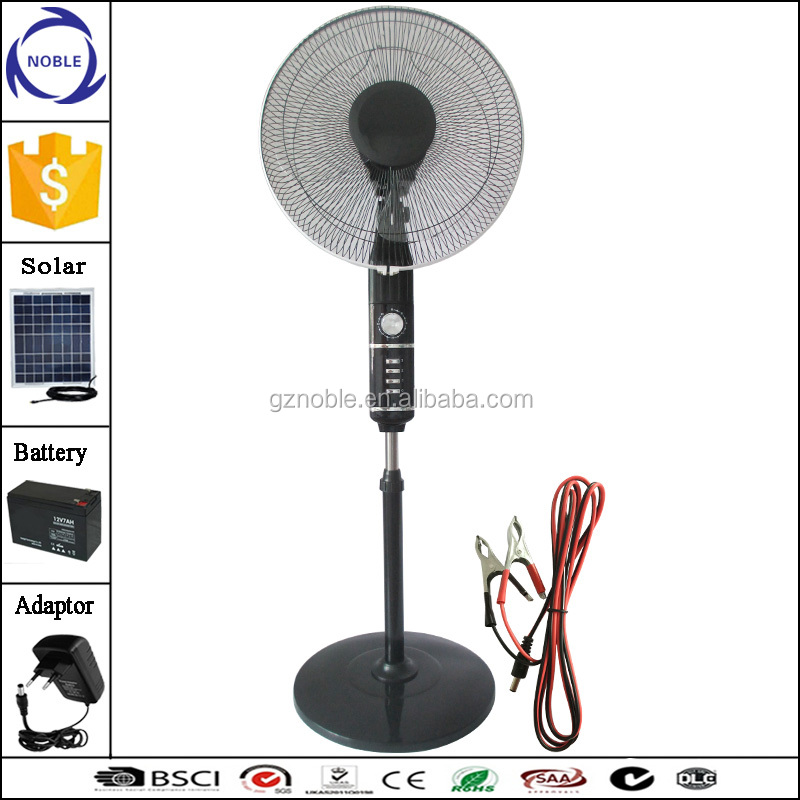 good selling 12V 16 inch high quality stand fan standing outdoor fan with timer