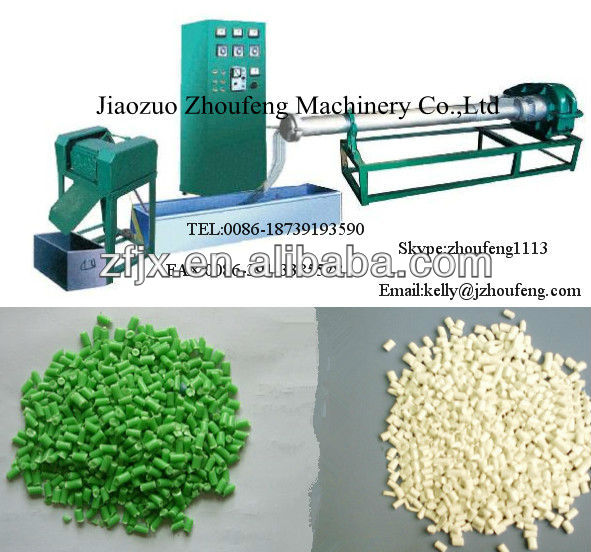 pp,pe,abs,ps cold cut waste plastic pellet making machine with price / plastic pellet making machine (Skype:zhoufeng1113)