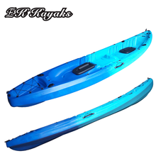cheap and steady tandem ocean fishing kayak with fold back rest