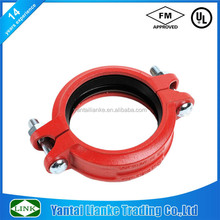 China fm ul approved fire fighting ductile iron grooved fitting