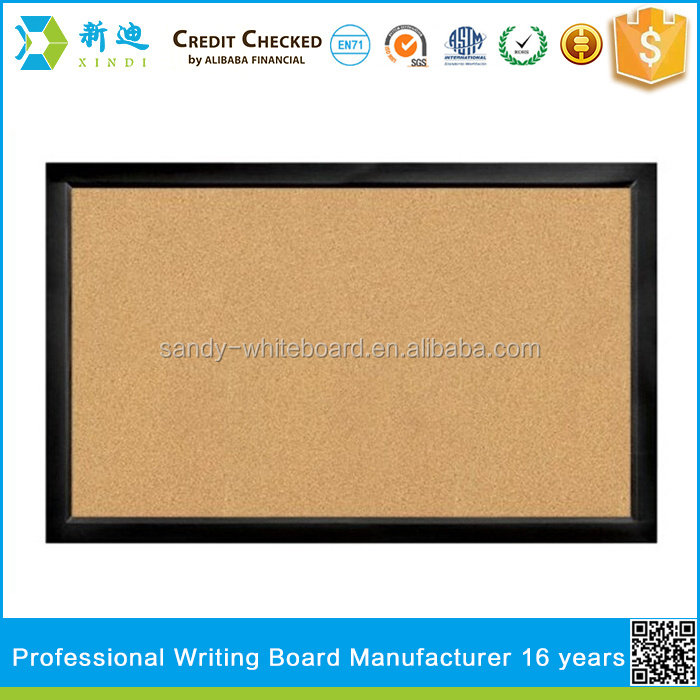 Black MDF framed corkboard memo board sale