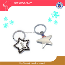 New premium 1 dollar gifts metal America local landmark metal star key chain key holder key ring from Gold factory Company