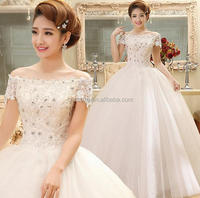 Z54466B Sexy Elegant Gorgeous Embroidery Sexy Beautiful prom lace wedding dresses