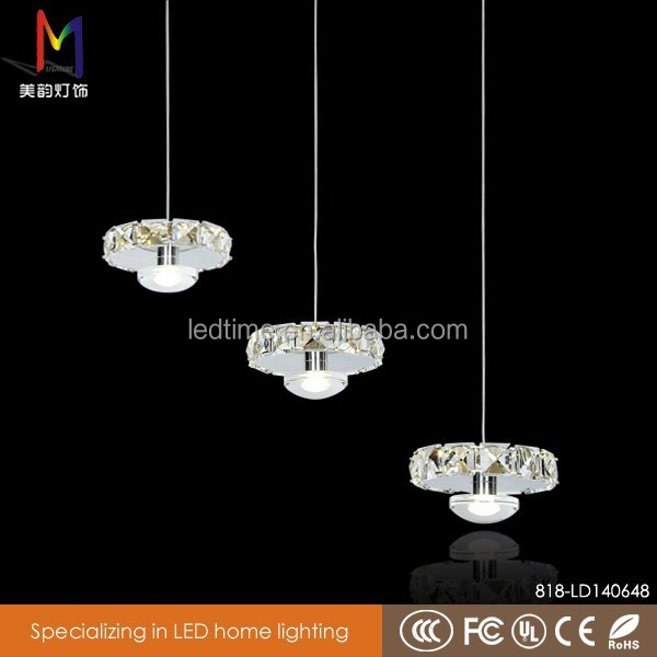 Modern crystal chandelier beaded string crystal pendant light led 18W for home wedding decoration
