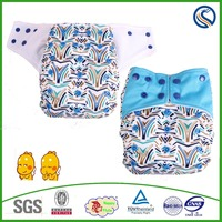 Happy flute Sleepy Night Baby Cloth Diaper Printed Sunny Baby washable Nappy Cloth Factory Price Diapers