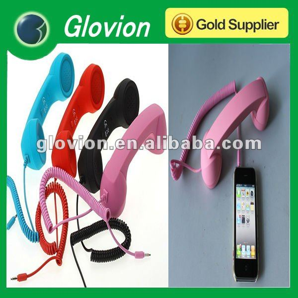 Hot sale Wire Retro POP Phone Handset pop color retro mobile phone handset smart phone handset