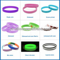Passed SGS Innovative Design Friendship Silicone Bracelet For Promoting