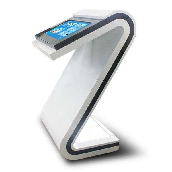 21.5 inch floor stand white design network/wifi lcd touch tablet pc kiosk