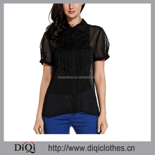 Shirt/Blouse Top Type and Woven Spandex Fabric fashion design lady casual new model blouse