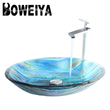 Tempered Glass Art Handmade Wash Basins, Various Types of Lavatory for Your Bathroom