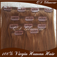 Top Selling Factory Wholesale Tangle Free cheap hair extensions clip in full head