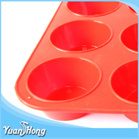 Wholesale 12 round muffin pan cake silicone mold