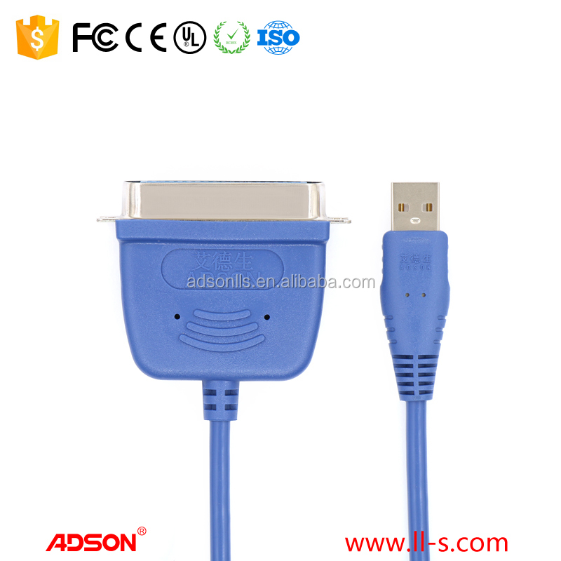ADSON High Quality IEEE 1284 Usb 2.0 To Parallel Printer Cable Adapter