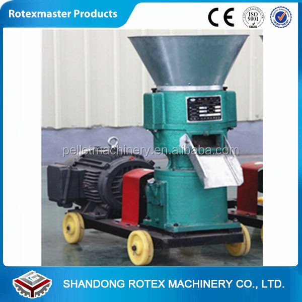 Alibaba Trade Assurance feed pellet press machine/chicken feed mill/SKJ250 diesel flat die pellet and spare parts