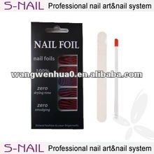 New fashion design nail art,doule sided nails,nail sticker and file set