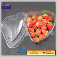 Hot sale heart shape plastic packaging box for fresh fruit and vegetables