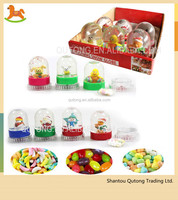 Christmas snow globe ball candy toy with 10g compressed candy/high quality candy toy