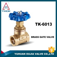 600wog full port red steel handle forged 4inch PTFE seal gashets brass stem NPT thread control gate valve in TMOK