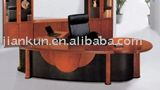 Modern Paper Finished Lacquered Office Table