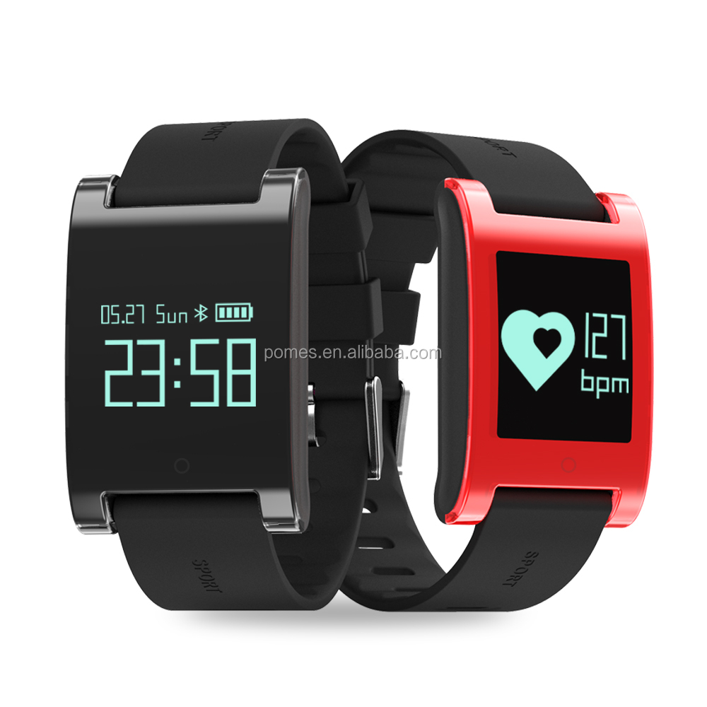 0.95'' IP67 waterproof Bluetooth smart watch with heart rate and Blood pressure monitor