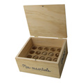 Plywood custom logo wooden essential box with magnet
