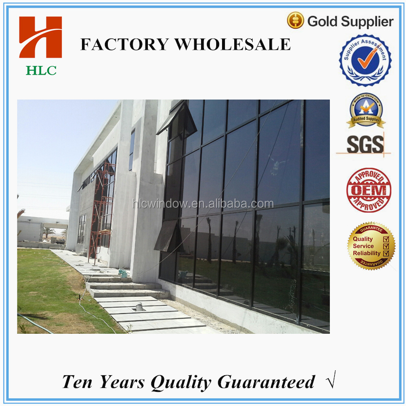 Building mateiral price double tempered glass exposed framing curtain wall