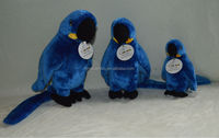 2014 plush toy bird blue parrot animal sounds toys factory