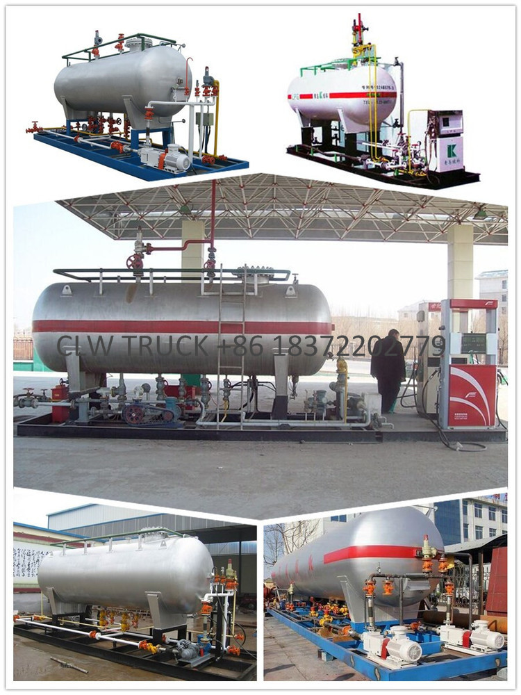 10000L LPG storage tank cooking gas filling dispenser station LPG skid station