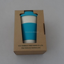 Magic Bamboo Fiber Coffee Cup with Silicon Lid & Sleeve